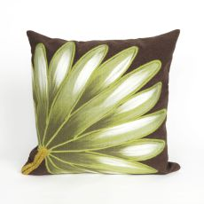 "Liora Manne Visions Ii Palm Fan Indoor/Outdoor Pillow - Brown, 20"" Square"