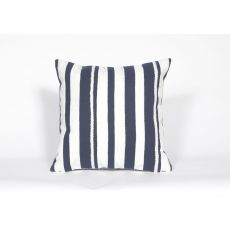 "Liora Manne Visions Ii Marina Stripe Indoor/Outdoor Pillow - Navy, 20"" Square"