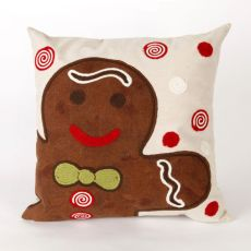 "Liora Manne Visions Ii Ginger Boy Indoor/Outdoor Pillow - Brown, 20"" Square"