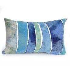 """Liora Manne Visions III Waves Indoor/Outdoor Pillow Ocean 12""""x20"""""""