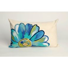 "Liora Manne Visions Iii Daisy Indoor/Outdoor Pillow - Blue, 12"" By 20"""