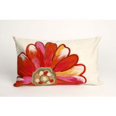 "Liora Manne Visions III Daisy Indoor/Outdoor Pillow - Orange, 12"" by 20"""