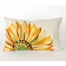 "Liora Manne Visions III Sunflower Indoor/Outdoor Pillow - Yellow, 12"" By 20"""