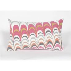 "Liora Manne Visions Iii Floating Ink Indoor/Outdoor Pillow - Pink, 12"" By 20"""