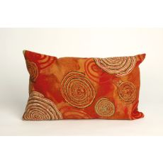 "Liora Manne Visions Iii Graffiti Swirl Indoor/Outdoor Pillow - Red, 12"" By 20"""