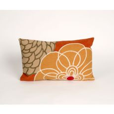 "Liora Manne Visions Iii Disco Indoor/Outdoor Pillow - Orange, 12"" By 20"""