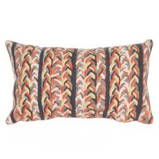 "Liora Manne Visions Iii Braided Stripe Indoor/Outdoor Pillow - Orange, 12"" By 20"""