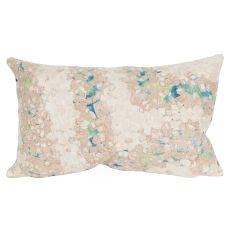 "Liora Manne Visions Iii Elements Indoor/Outdoor Pillow - Blue, 12"" By 20"""