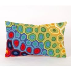 "Liora Manne Visions Iii Pop Swirl Indoor/Outdoor Pillow - Red, 12"" By 20"""