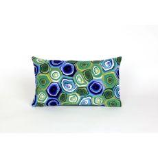 "Liora Manne Visions Iii Murano Swirl Indoor/Outdoor Pillow - Green, 12"" By 20"""