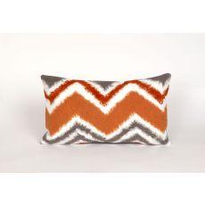 """Liora Manne Visions Iii Zigzag Ikat Indoor/Outdoor Pillow - Orange, 12"""" By 20"""""""