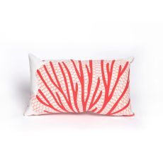 "Liora Manne Visions Iii Coral Fan Indoor/Outdoor Pillow - Orange, 12"" By 20"""