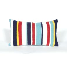 "Liora Manne Visions Iii Riviera Strp Indoor/Outdoor Pillow - Multi, 12"" By 20"""