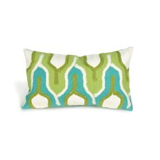 "Liora Manne Visions Iii Crochet Tower Indoor/Outdoor Pillow - Green, 12"" By 20"""