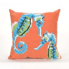"Liora Manne Visions III Seashorse Indoor/Outdoor Pillow - Multi, 12"" by 20"""