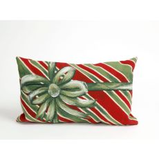 "Liora Manne Visions Iii Gift Box Indoor/Outdoor Pillow - Green, 12"" By 20"""