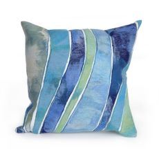 "Liora Manne Visions Iii Waves Indoor/Outdoor Pillow Ocean 20"" Square"