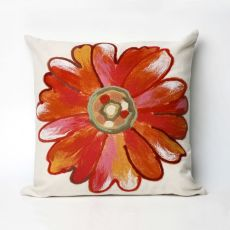 "Liora Manne Visions Iii Daisy Indoor/Outdoor Pillow - Orange, 20"" Square"