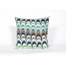 "Liora Manne Visions Iii Floating Ink Indoor/Outdoor Pillow - Blue, 20"" Square"