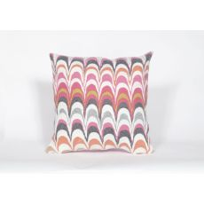 "Liora Manne Visions Iii Floating Ink Indoor/Outdoor Pillow - Pink, 20"" Square"