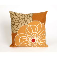 "Liora Manne Visions Iii Disco Indoor/Outdoor Pillow - Orange, 20"" Square"