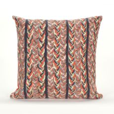 "Liora Manne Visions Iii Braided Stripe Indoor/Outdoor Pillow - Orange, 20"" Square"