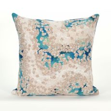 "Liora Manne Visions Iii Elements Indoor/Outdoor Pillow - Blue, 20"" Square"
