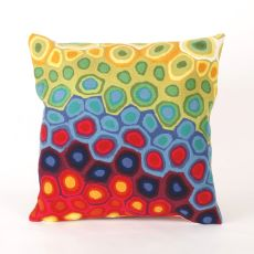 """Liora Manne Visions Iii Pop Swirl Indoor/Outdoor Pillow - Red, 20"""" Square"""