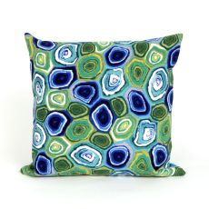 """Liora Manne Visions Iii Murano Swirl Indoor/Outdoor Pillow - Green, 20"""" Square"""