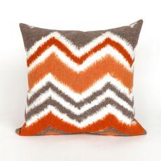 """Liora Manne Visions Iii Zigzag Ikat Indoor/Outdoor Pillow - Orange, 20"""" Square"""