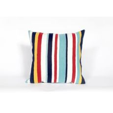 "Liora Manne Visions Iii Riviera Strp Indoor/Outdoor Pillow - Multi, 20"" Square"