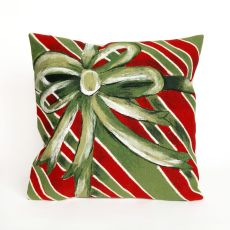 "Liora Manne Visions Iii Gift Box Indoor/Outdoor Pillow - Green, 20"" Square"