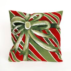 "Liora Manne Visions III Gift Box Indoor/Outdoor Pillow Green 20"" Square"