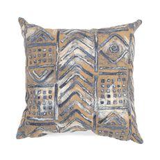 "Liora Manne Visions III Bambara Indoor/Outdoor Pillow Indigo 12""x20"""