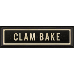 Clam Bake Framed Art Sign