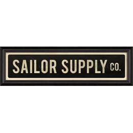Sailor Supply Co Framed Sign Art