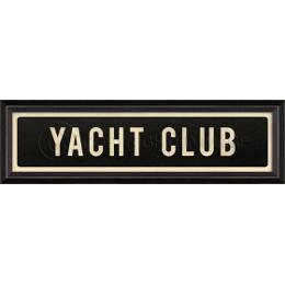Yacht Club Framed Art Sign