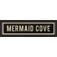 Mermaid Cove Framed Wood Art Print Sign