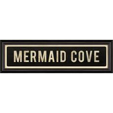 Mermaid Cove Framed Wood Art Print Sign