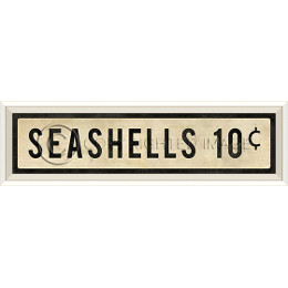 Seashells 10 Cents Art Sign