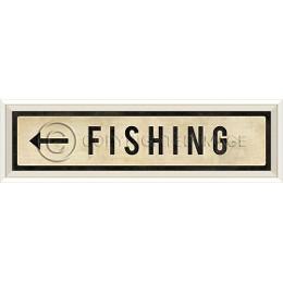 Fishing left Art Sign