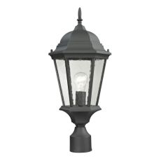 Temple Hill Pendant Lantern In Matte Textured Black
