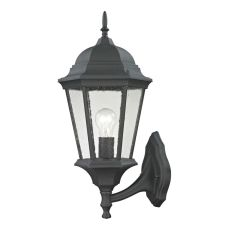 Temple Hill Coach Lantern In Matte Textured Black