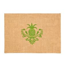Green Pineapple Burlap Place Mat S/6