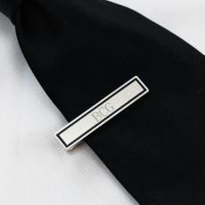 Black Border Designer Tie Clip