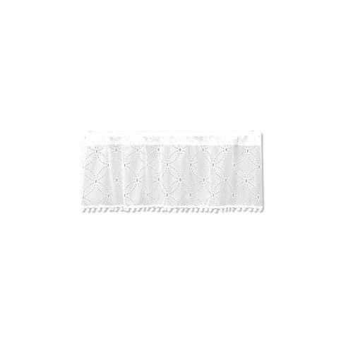 Prima Eyelet42X14 Window Valance W/ Trim, White