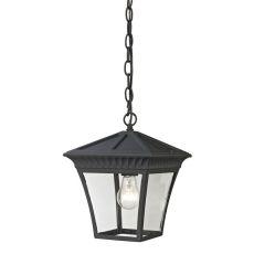 Ridgewood Pendant Lantern In Matte Textured Black