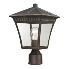Ridgewood Post Lantern In Hazelnut Bronze