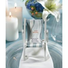 Beach Folding Chair Place Card Holders