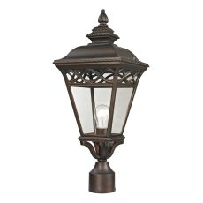 Mendham 1 Light Exterior Post Lantern In Hazelnut Bronze